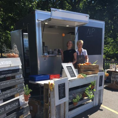 Our food truck in the sun - NP Catering